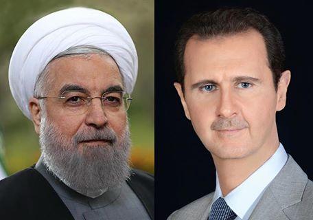 في اتصال هاتفي مع الرئيس الايراني الاسد يعرب عن تعازيه الحارة لايران