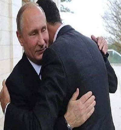 الرئيس الأسد يعقد لقاء قمة مع الرئيس الروسي فلاديمير بوتين