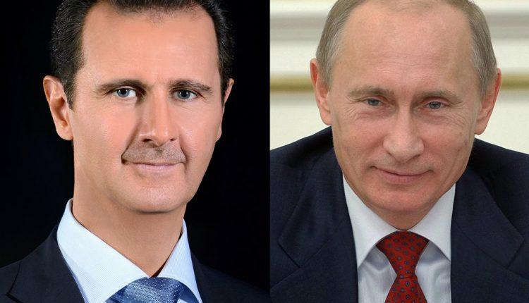 الرئيس الأسد للرئيس الروسي فلاديمير بوتين: