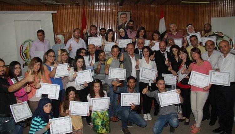 اختتام فعاليات الدورة التدريبية للصحفيين بدمشق