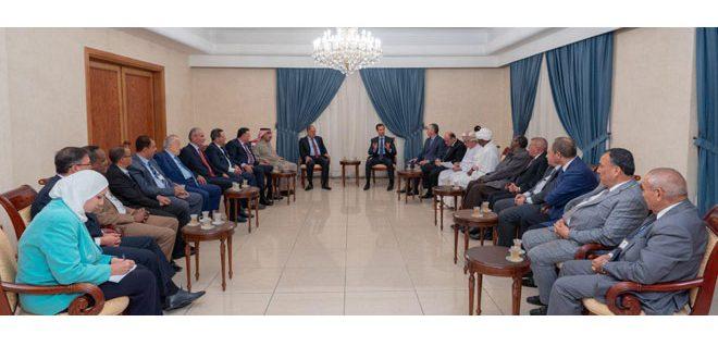 الرئيس الأسد لأعضاء الأمانة العامة لاتحاد الصحفيين العرب: تحصين العاملين في المجال الإعلامي أمر أساسي لتحصين الشعوب