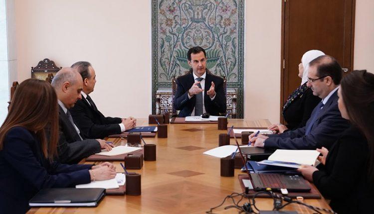 الرئيس #الأسد يجتمع بفريق #المشروع_الوطني_للإصلاح_الإداري